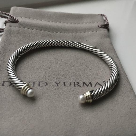 David Yurman Jewelry 5mm Pearl Bracelet With 18k Gold Poshmark